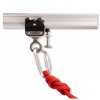Mobile anchor point for rope suspension