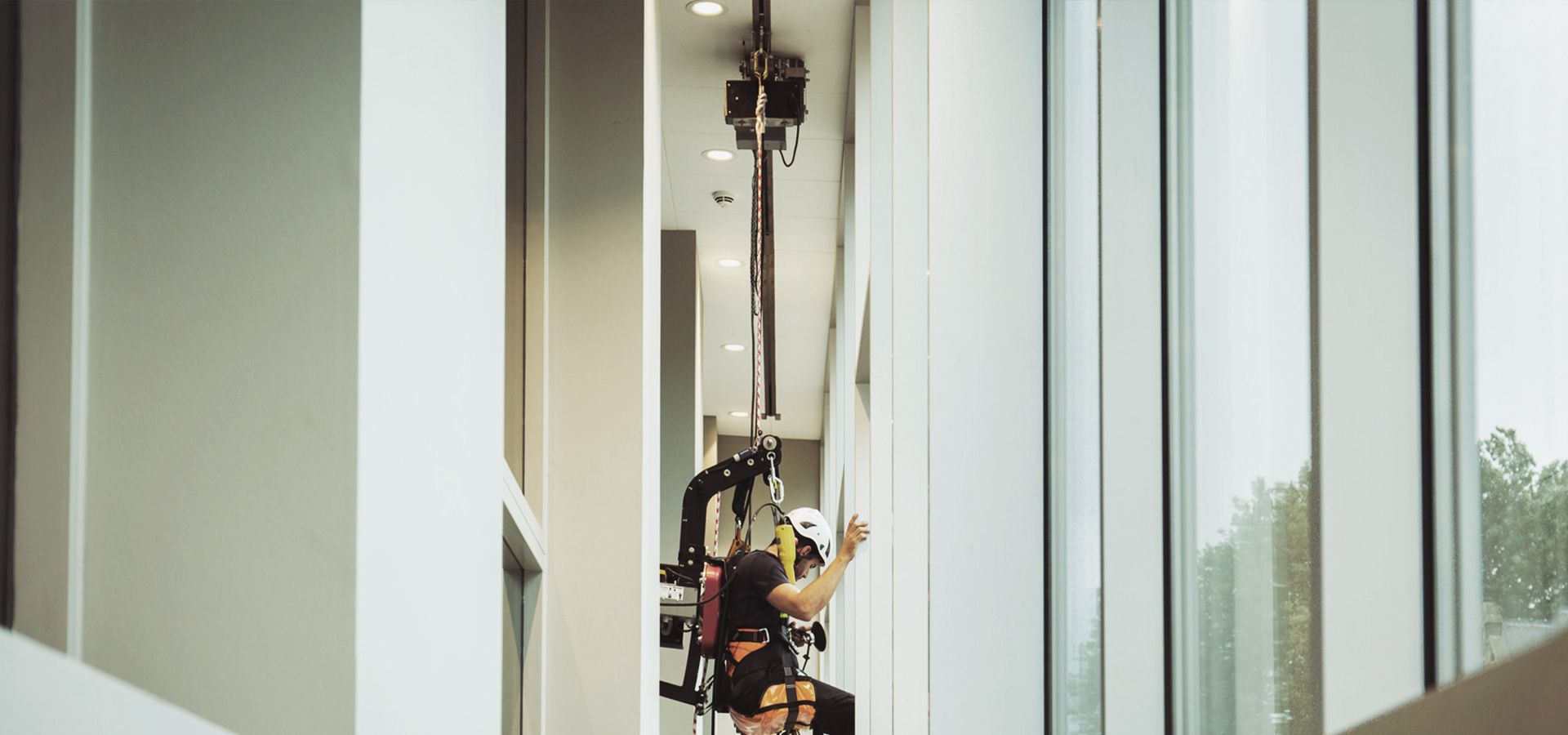 RopeClimber person hoist in a cultural center