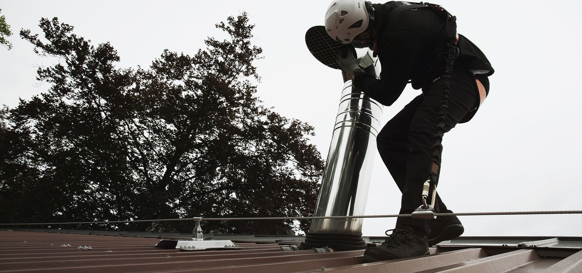 Securing the Kraizbierg window cleaning