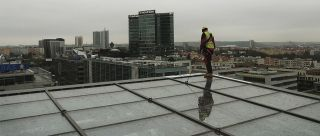 Rotative anchor point glass roof Praha