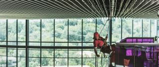 Works in suspension by rope access - LOLER Monorail