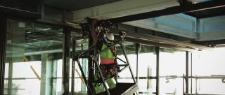 Safety work platforms for cleaning and maintenance