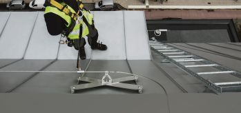 Fall arrest system on standing seam roof