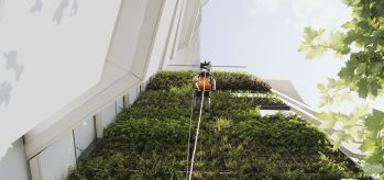 RopeClimber hoist green wall Paris