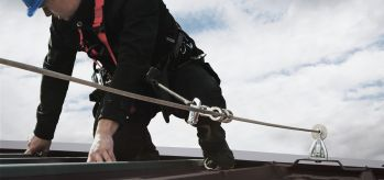 Inclined fall protection equipment SecuRope