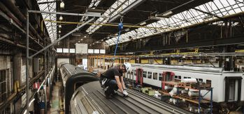 SafeAccess fall restraint system trains Mechelen