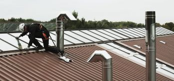 Securope lifeline cold deck window cleaning