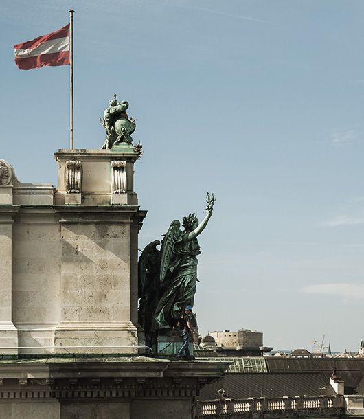 Fallprotec systems on the Hofburg in Vienna (AT)